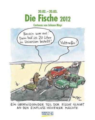 Die Fische im Jahr 2012: Cartoon-Kalender
