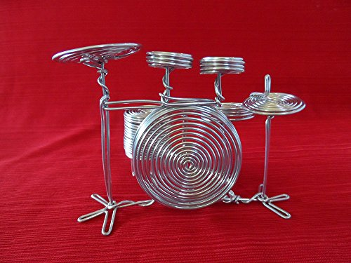 Unique Metal Wire Gift Art Handmade Drum Set Music Christmas Ornaments Musical Instrument Christmas Ornaments Craft Decor Toys Music Christmas Birthday Decorations Party supplies (Beatles Drum Collection)