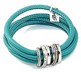 Brighton Neptune's Rings Sea Leather Swarovski Crystal Bracelet