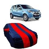 MotRoX Car Body Cover For Maruti Suzuki Alto 800 with Side Mirror Pocket (Red & Blue)