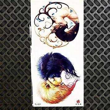 HXMAN 3 Unids Acuarela Temporal Tatuaje Dibujos Animados Gatos ...