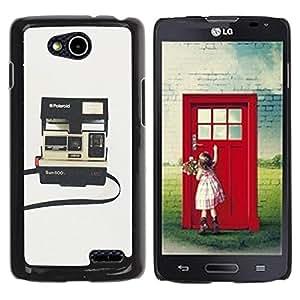 YOYOYO Smartphone Protección Defender Duro Negro Funda Imagen Diseño Carcasa Tapa Case Skin Cover Para LG OPTIMUS L90 D415 - cámara instantánea photography retro