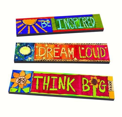 マグネットWorks Be Inspiredアート厚板のセット3 B071DK4YP9
