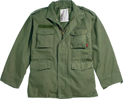 Olive Drab Military Vintage M-65 Field Jacket 8603 Size Medium