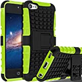 iPod Touch 6 Case,iPod Touch 5 Case, SLMY(TM) Heavy Duty Dual Layer Shockproof