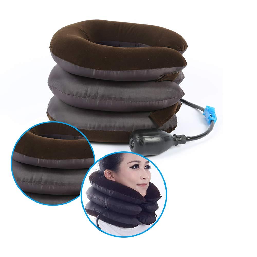 Enshey Inflatable Neck Traction Pillow Blow Up Cervical Vertebra Tractor Traction Massage Neck Back Shoulder Pain