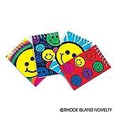 Rhode Island Novelty 2 Dozen (24) Smiley Face Mini Spiral Notebooks Smile Emoticon Emoji Party Favors Classroom Teacher