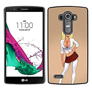LECELL--Funda protectora / Cubierta / Piel For LG G4 -- colegiala sexy push up mujer pollito --