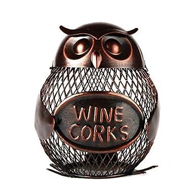 Home-X Owl Wine Cork Holder. Wine Cork Cage.