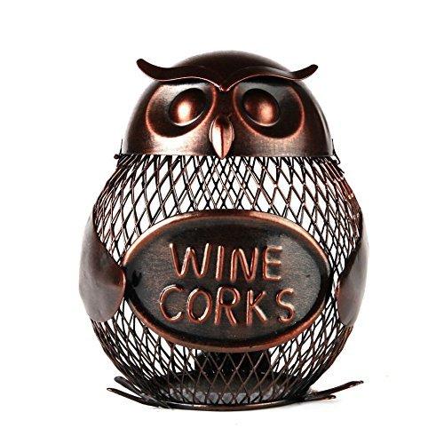 Home-X Owl Wine Cork Holder
