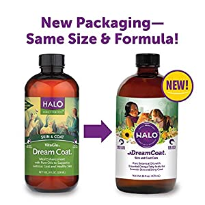 Halo Vita Glo Dream Coat Natural Meal Enhancement for Dogs & Cats, 16-Ounce Bottle