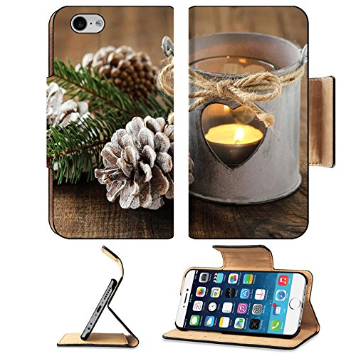 Liili Premium Apple iPhone 6 iPhone 6S Flip Pu Leather Wallet Case IMAGE ID 33612725 Beautiful Christmas decoration with a shabby chic tin lantern and pine cones with added retro - Reviews Pinecone