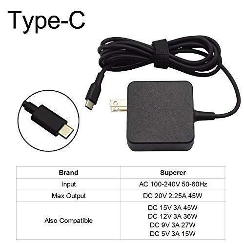 45W Type-C AC Charger for Samsung Chromebook Pro XE510C24 XE510C24-K01US XE510C25 XE510C25-K01US XE521QAB P/N W16-030N1A BA44-00336A -Power Supply Adapter Cord