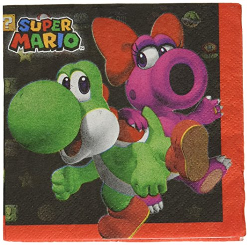 Birdo Costume (Amscan Swank Super Mario Brothers Birthday Party Beverage Napkins Tableware (16 Pack), 5