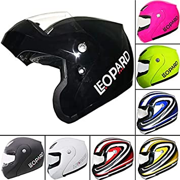 Leopard LEO-717 Flip up Front Motorcycle Motorbike Helmet - Matt Black XS (53-54cm) Touch Global Ltd
