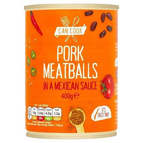 Puede Cocinar Albóndigas De Carne De Cerdo En Una Salsa De 400G Mexicano (Paquete de