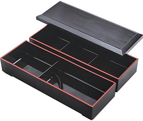Japonés lacado Bento caja 3 compartimentos, 3 pc. Set: Amazon.es: Hogar