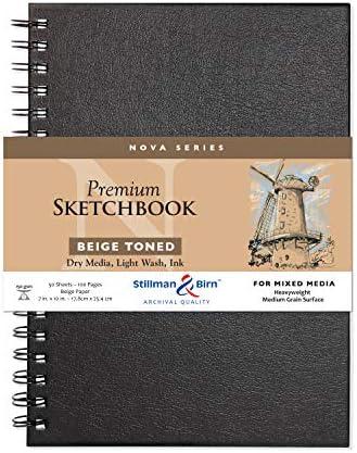 Nova Wirebound Schetsboek Beige 7x10 Inch