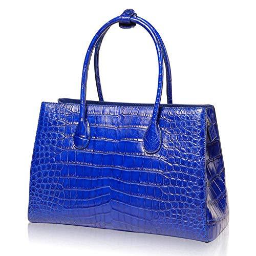 Crocodile Grande Sacs Cuir Sac Peau D WWAVE à Dames pour Blue Ladies Nouvelle Main Femme Zipper capacité Sac Sac wRqxX7xv