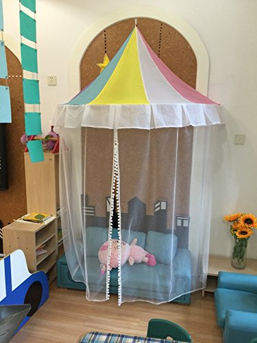 KingKara Children Play Tent Bed Canopy With 40 LED Lights