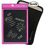 Boogie Board 8.5-Inch LCD Writing Tablet,Pink (PT01085PNKA0002) & Boogie Board Sleeve, Black (JSG310001) Bundle