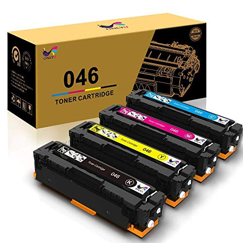 ONLYU KCMY High Yield 046H Toner Cartridges Replacement for Canon 046 046H CRG 046 046H for Canon Color ImageCLASS MF735Cdw LBP654Cdw MF731Cdw MF733Cdw Laser Printer - 4 Pack
