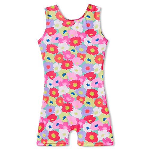 Gymnastics Leotards for Toddler Girls Kids 3t 4t 3-4 Years Old Pink Floral Dance Ballet Clothes Jumpsuit Unitard Biketard Bodysuits