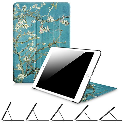 Fintie iPad Air 2 Case - [Multiple Secure Angles] Magnetic Kickstand Protective Cover with Auto Sleep / Wake Feature for Apple iPad Air 2 (2014 Model), Blossom