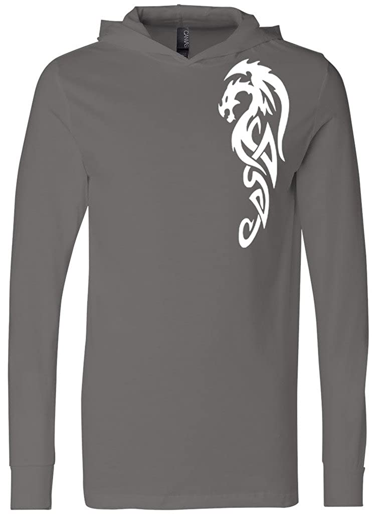 6026f60d8 Yoga Clothing For You Mens Tribal Dragon Lightweight Hoodie Tee Shirt:  Amazon.ca: Clothing & Accessories