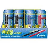 Pilot FriXion Clicker Retractable Erasable Gel Pens, Fine Point, Assorted Color Inks, 2 Pens/Pack, 36 Packs, Total of 72 Pens (57091)