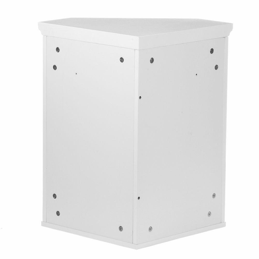 Simon 22-1/2 in. W x 15 in. D x 24 in. H Corner Wall Cabinet with 1-Shutter Door in White