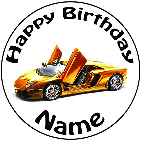 akgifts-personalised-lamborghini-cake-topper-a-pre-cut-round-8-20cm-icing-decoration