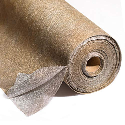Metallic Gold and Silver Gossamer Decorating Material, 19 Inches x 50 Yards Long, Decorating Prom, Homecoming, Wedding Ceilings and ()