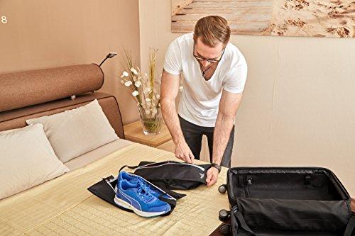 HOPEVILLE Extra große Schuhtaschen im 2er Set / Premium wasserundurchlässige Schuhbeutel trennen saubere Kleidung von schmutzigen Schuhen auf Reisen, Freizeit und Ausflug