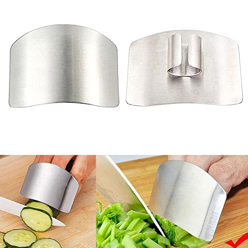 2 Pack Finger Guard For Cutting Stainless Steel Safe Slice Knife Guard Slicing Cutting Protector Finger Hand Protector Guard by Genenic (Image #5)