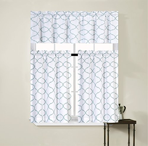 Regal home collections shabby trellis kitchen curtain tier for Kitchen decor collections