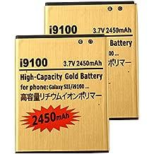 2 pcs Gold Extended Samsung Galaxy S2 SGH-i777 High Capacity Battery EB-L1A2GBA EB-F1A2GBU For Samsung Galaxy S II SGH-i777 / Samsung Galaxy S II I9100 / Samsung Galaxy S2 SGH-i777 / Samsung Galaxy S2 I9100 2450 mAh