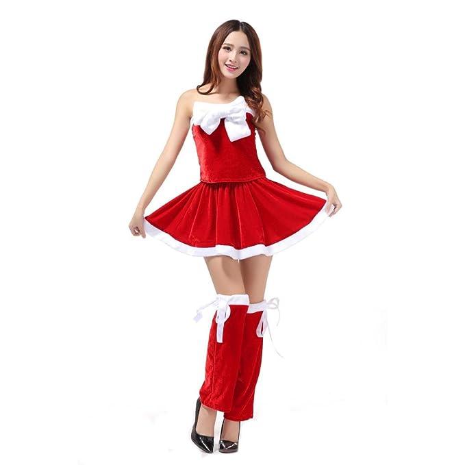 1b8b7cab7d31 AMA(TM) Women Christmas Sexy Santa Fancy Dress Costume Xmas Office Party  Outfit (