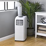 Best Choice Products 3-in-1 10,000 BTU 2-Speed Portable Air Conditioner Cooling Fan Dehumidifier w/ 4 Modes, 24 Hour Programmable Timer, LED Display, Remote Control - White