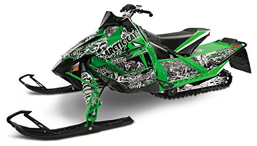 - Arctic Cat Snowmobile Cat Wraps Chaos Green Hood for ZR M XF F