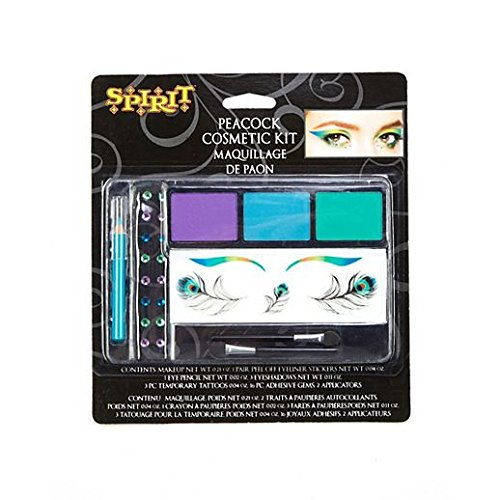 Fancy Face Paint Color Halloween Peacock Makeup (Makeup For A Peacock Costume)