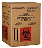 Garbage Disposal Containers Medical Waste Disposal Containers - 3 Corrugated Boxes with Red Biohazard Liner Bags - for Biohazardous Waste Management - Pickup Service Available