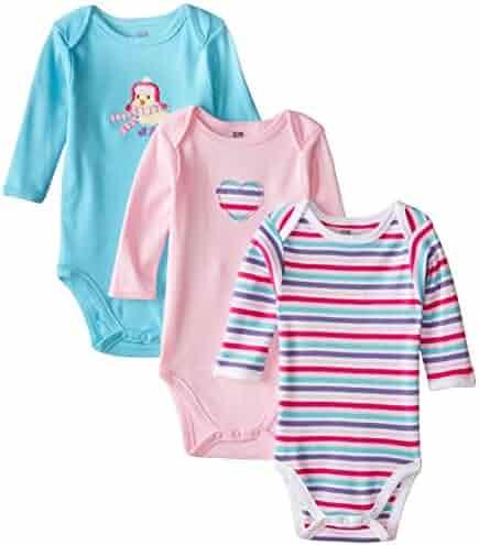 Hudson Baby Baby Girls' Long Sleeve Bodysuits