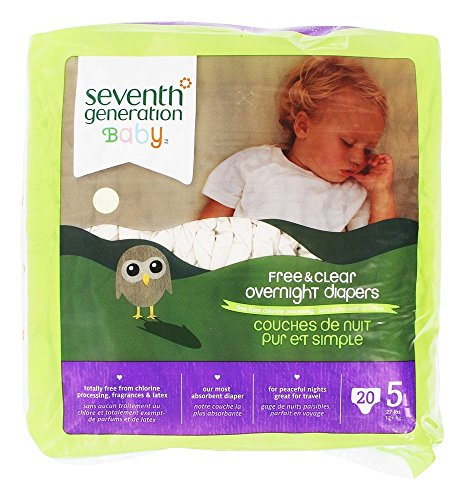 Seventh Generation Baby Overnight Diapers, Stage 5