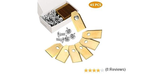 Zaeel cortacéspedes Cuchillas de Repuesto, 45pcs Titan láminas ...
