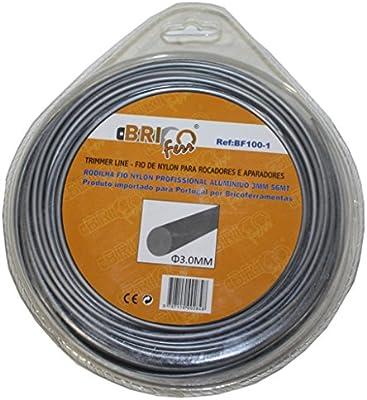 Bricoferr BF100-1 Hilo desbrozadora nylon con aluminio perfil ...
