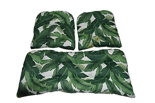 3 Piece Wicker Cushion Set - Tommy Bahama Swaying Palms A...