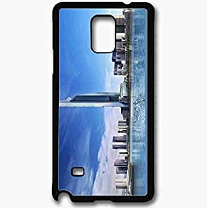 Unique Design Fashion Protective Back Cover For Samsung Galaxy Note 4 Case Dubai United Arab Emirates Sea Beautifully Black