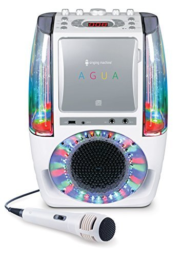 Singing Machine SML605W Agua Dancing Water Fountain Karaoke System with LED Disco Lights & Microphone White [並行輸入品] B078J2NFNF