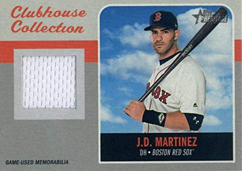 2019 Topps Heritage Clubhouse Collection Relics #CCR-JM J.D. Martinez MEM Red Sox Baseball MLB from Heritage Products